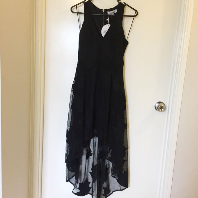 Black Oak Leaf Dress