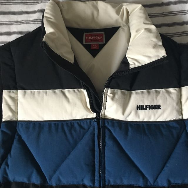 Blue And White Tommy Hilfiger Vest