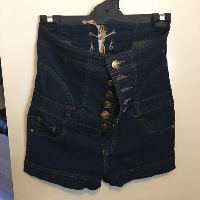 Blue Denim Shorts (size 8)