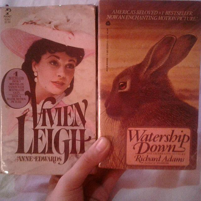 Books (Watership Down And Vivien Leigh)