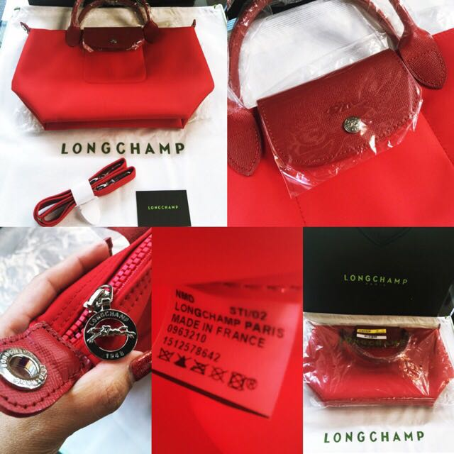Brand New And Authentic Longchamp Le Pliage Neo Poppy Red Small Size, Luxury, Bags & Wallets on Carousell