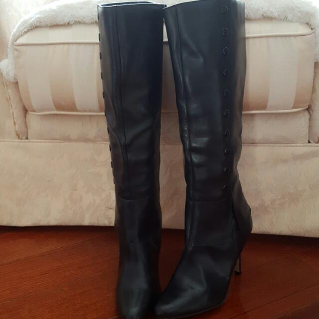 Brand New Black Leather Boots