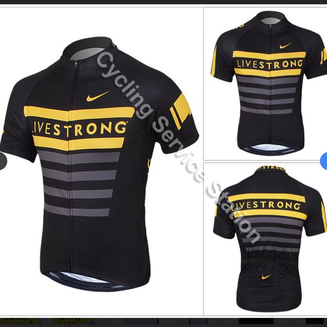 Brand New Live Strong Nike Cycling Jersey Top!! 5732871fa