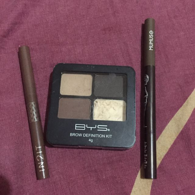 BYS Brow Definition / In2it Tri-angular Eyebrow Liner / Mumuso Eyebrow Liner