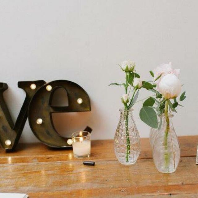 Cafe Style Vases From My Wedding