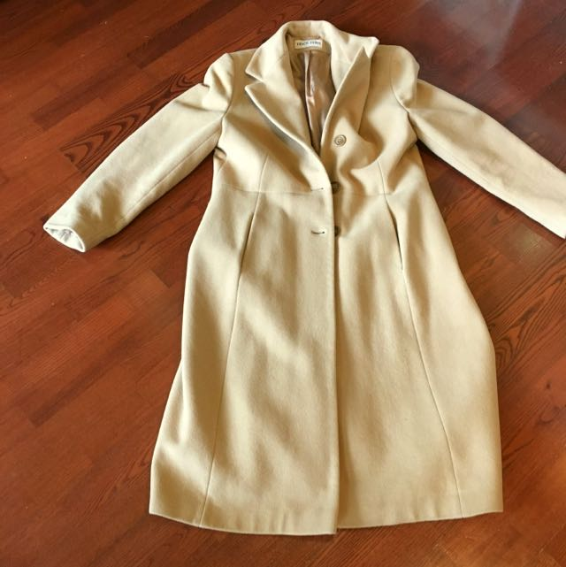 Cashmere/wool Camel Colour Coat