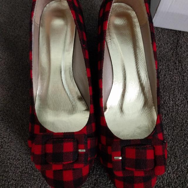 Checkered Wedge Heels Size 38