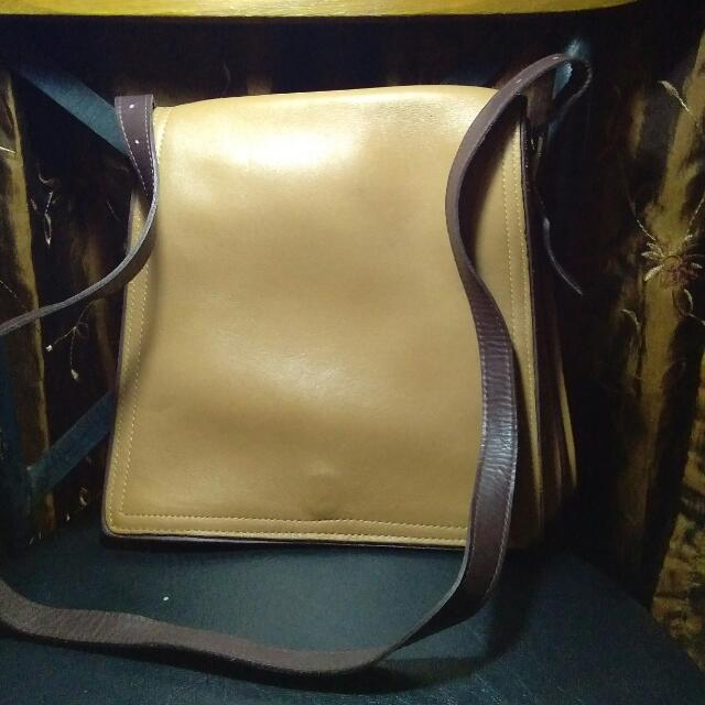 Coach leather body bag