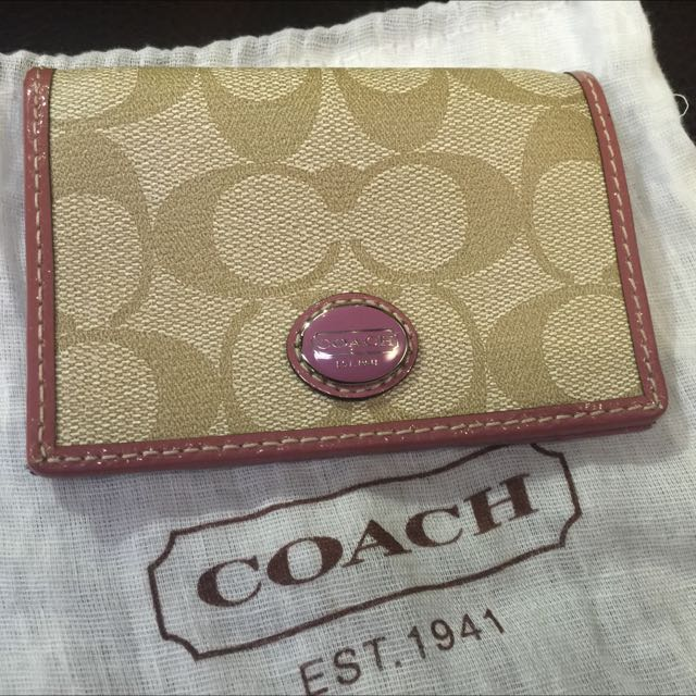 COCAH 粉色名片夾