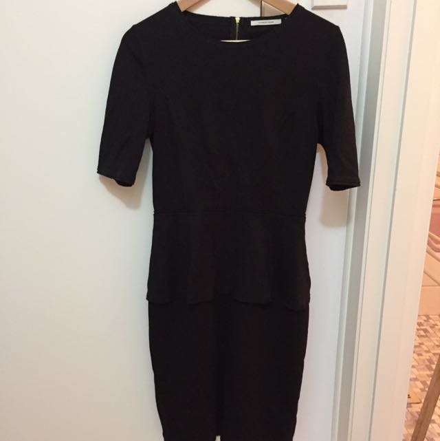 Country Road black Peplum Fitted dress