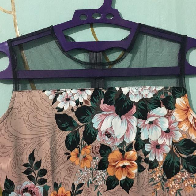 Custom Made Flowery Dress