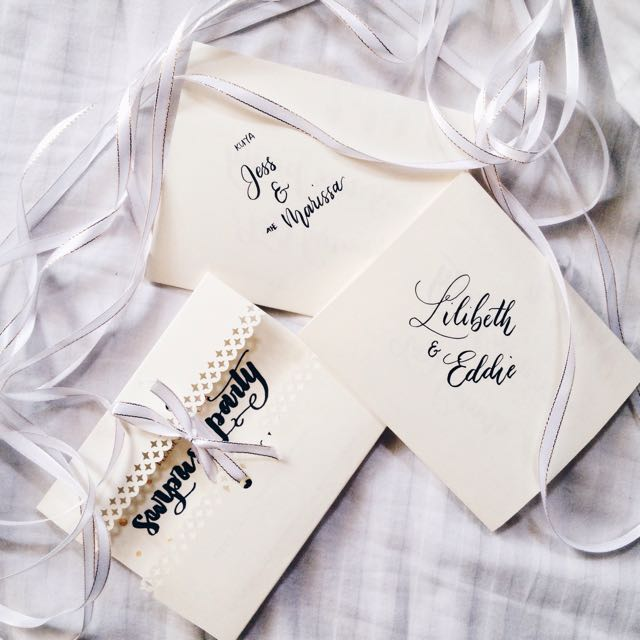 Customized Calligraphy Invitations
