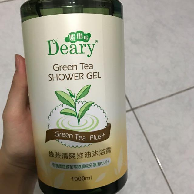 Deary綠茶清爽控油沐浴露1000ml