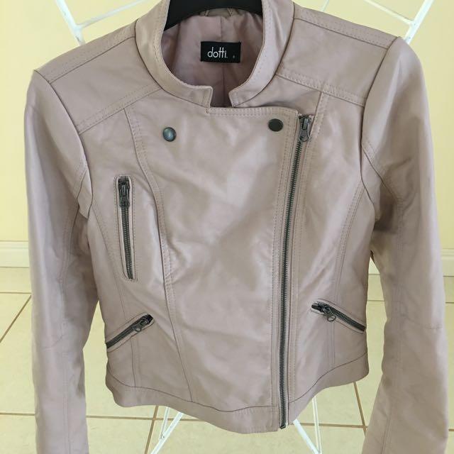 Dotti leather look jacket