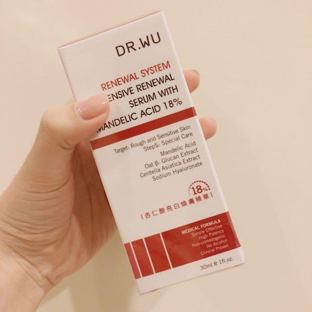 Dr.wu18%杏仁酸亮白煥膚精華30ml