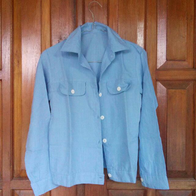 Fake Denim Outer