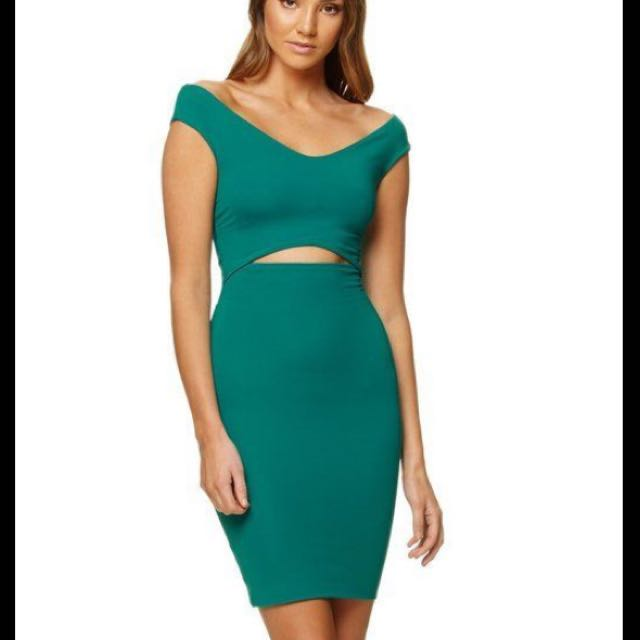 Fanfare Green Emily Dress BNWT Kookai 1 (6)