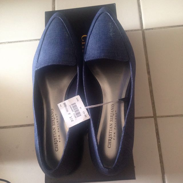 Reprice! Flat Shoes Blue Christian Siriano