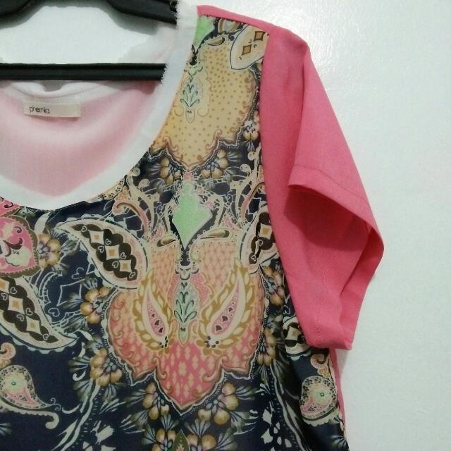 Floral Shirt Type Dress