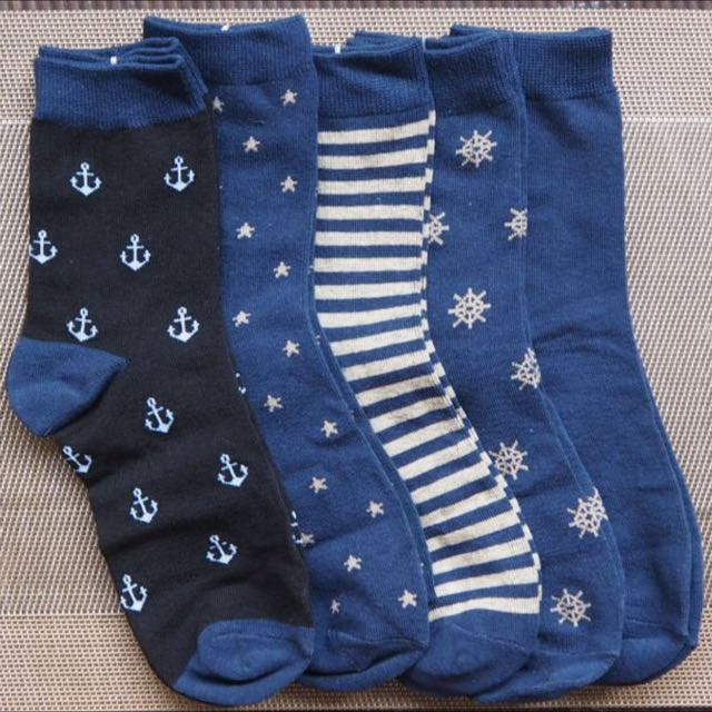 [FREENM]SET OF 5 BN Nautical Crew Socks