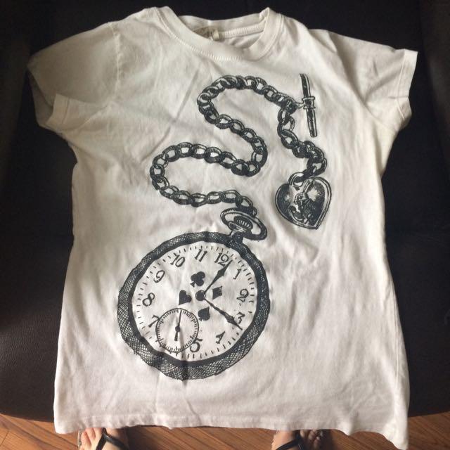 Girl White T-shirt