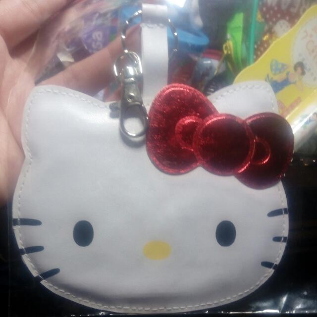 三麗鷗Hello Kitty皮質姓名吊牌可當鑰匙圈