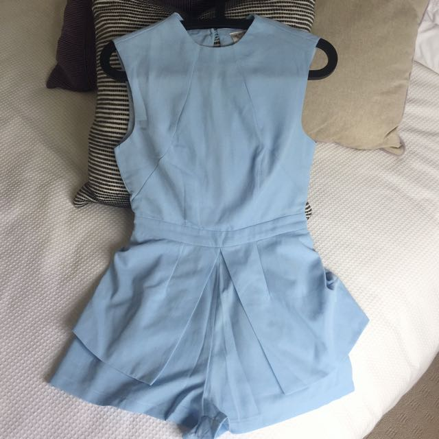 Hello Molly Baby Blue Playsuit