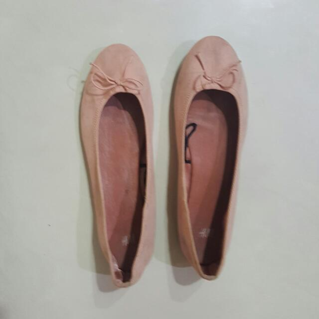 H&M Pink Flat Ballerina Shoes