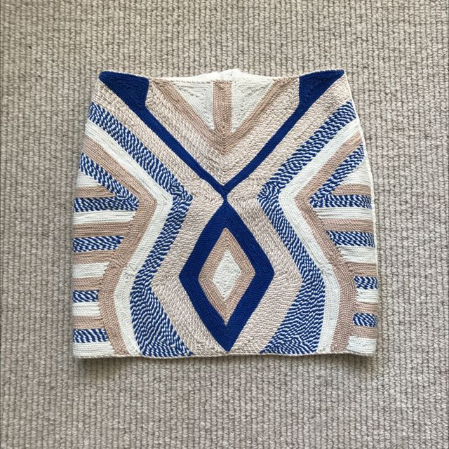 H&M Weave White Mini Skirt XS