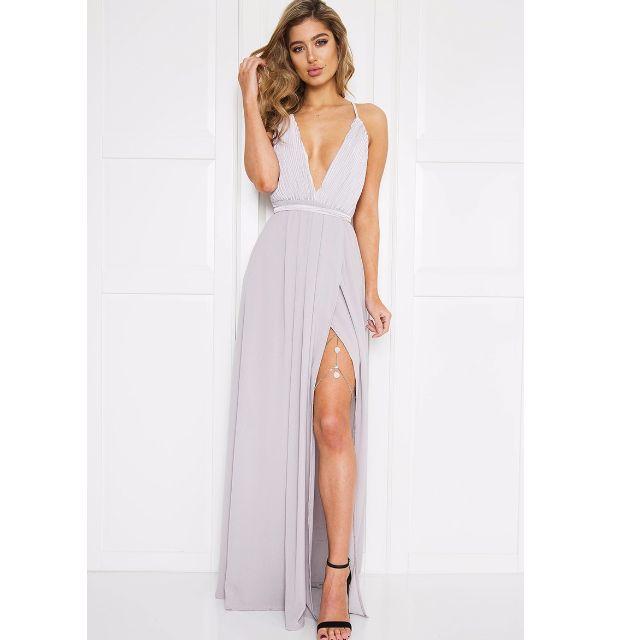 Janeiro Maxi Dress - Light Grey