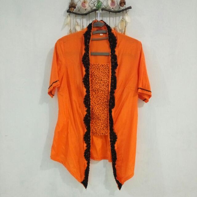 Kebaya Encim Orange