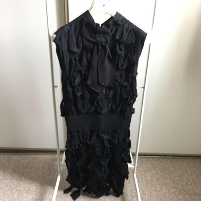 Lanvin x H&M Black Cocktail Dress (size 4)