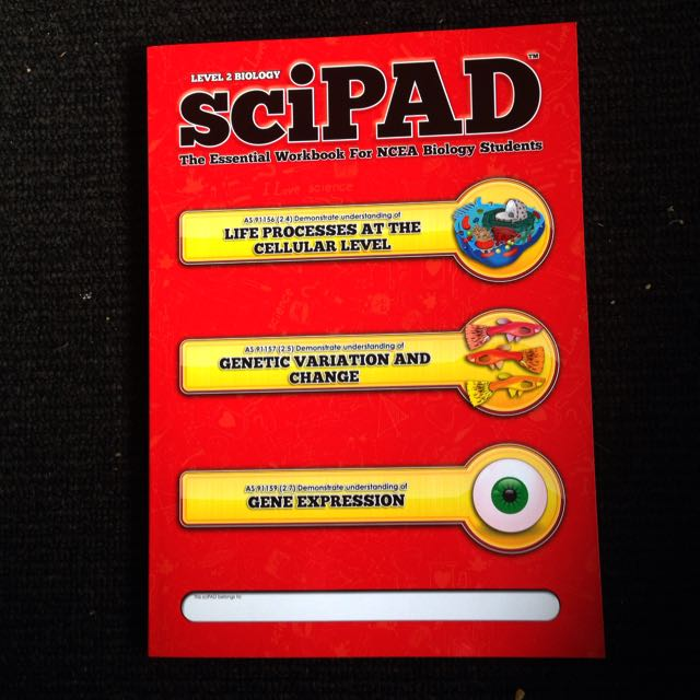 Level 2 Biology SciPad External Workbook