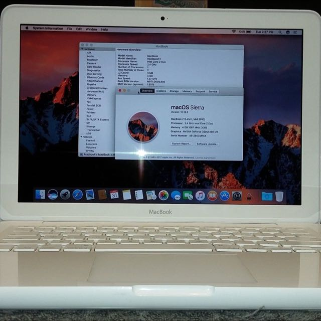 Macbook White Unibody Core 2 Duo With Grafic Year 2010 Latest