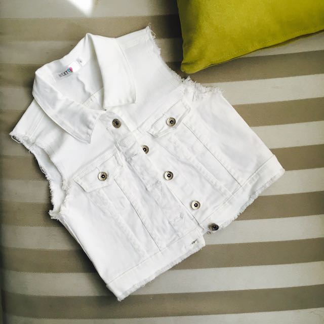 NEXT White Denim Vest