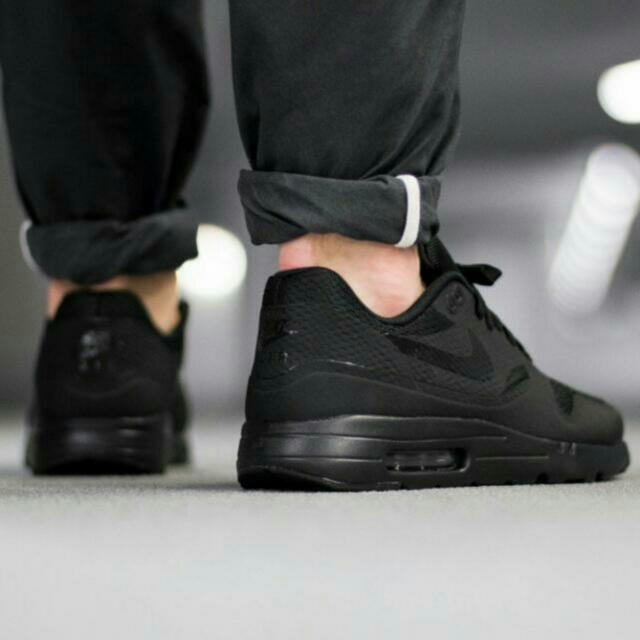 new products 49e4e 89008 Nike Air Max 1 Ultra Essential in TRIPLE BLACK, Women's ...