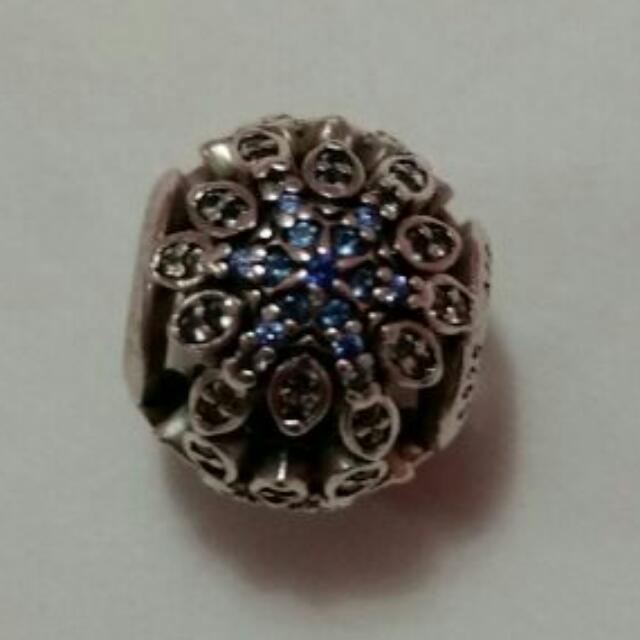 Pandora Charm- Blue Crystal Snowflake