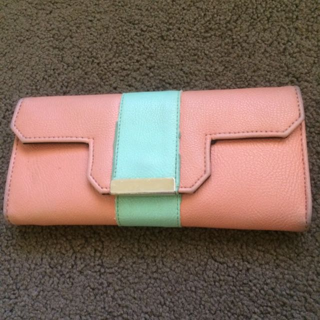 Peach And Green Purse