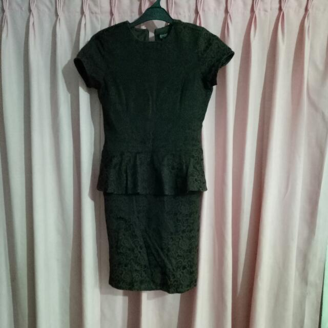 Peplum Motif Dress