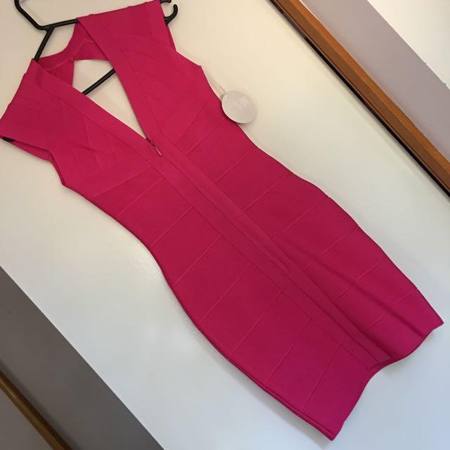 Pink Bandage Dress Size XS