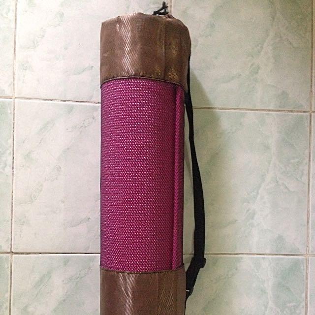 Pink Yoga Mat with Bag