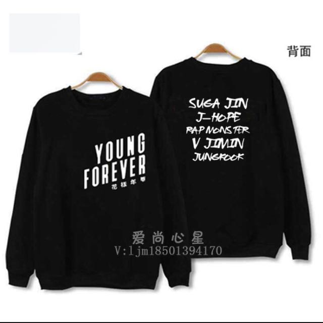[PO] BTS YOUNG FOREVER SWEATER/PULLOVER WITH NAMES