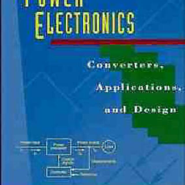 Power Electronics: Converters, Applications, and Design, 2ed  ISBN  9780471584087