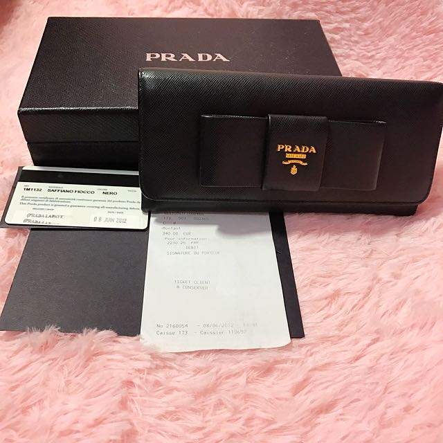 bed1bc2c85dc54 ... where to buy prada ribbon wallet luxury bags wallets on carousell befea  b9f9c
