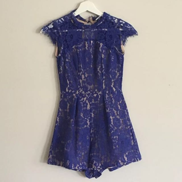 Princess Polly Lace Playsuit Size 6