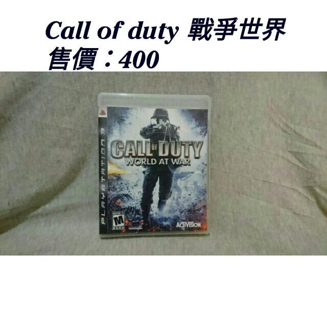 ☀[二手]PS3 Call Of Duty 戰爭世界