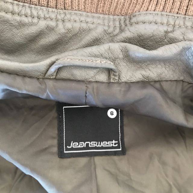 Real Leather Jeans west Jacket