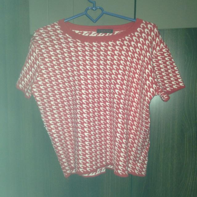 Red And White Cavalier Knit Shirt