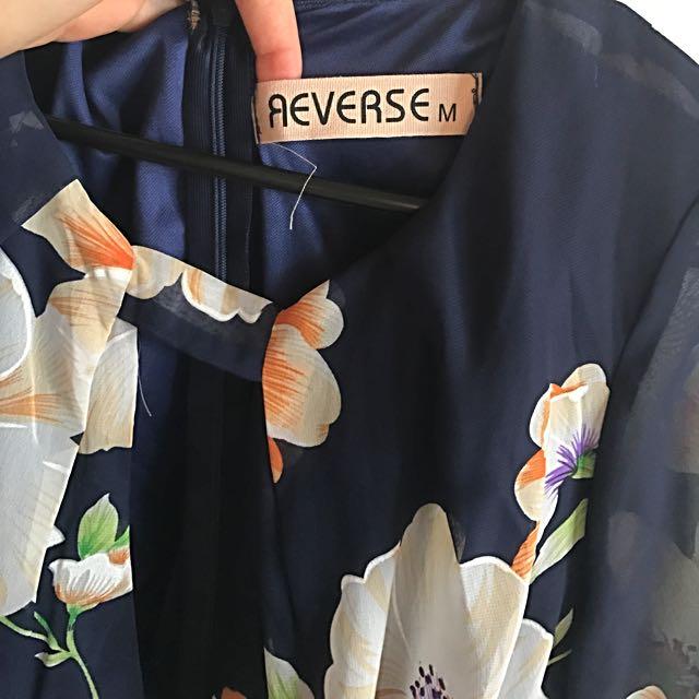 Reverse Floral Jumpsuit