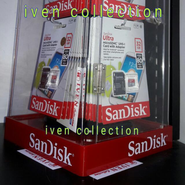 Sandisk MicroSD 32 GB Speed 80mb/s +adapter